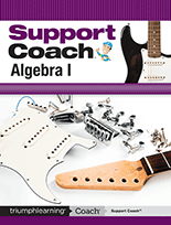 Support Coach, Algebra I cover